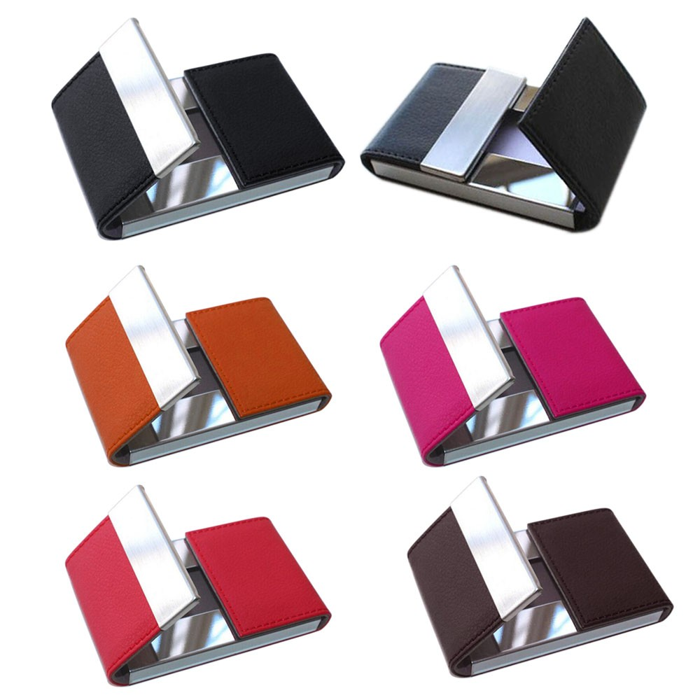 Luxury brand Credit Card women men Package Card Holder Double Open ...