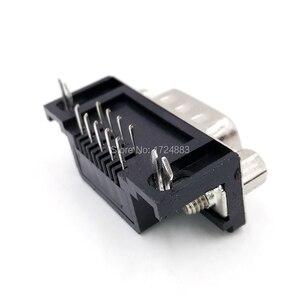 DB9 разъем адаптера печатной платы RS232 серийный угол 90 кабель для передачи данных разъем Com разъем 9pin отверстие порт розетка женский и мужской D Тип