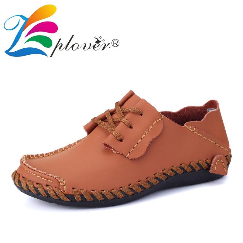 Zplover/Мужские кожаные туфли Повседневное осень 2017 г. модная обувь для Мужские туфли для вождения Повседневное ручной работы дышащие большой …