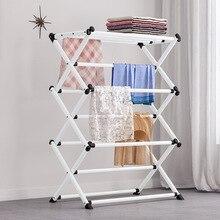 Coat Rack Floor-standing Bedroom Hangers Household Folding Drying Rack Towel Shelf Wardrobe Home Furniture цена и фото