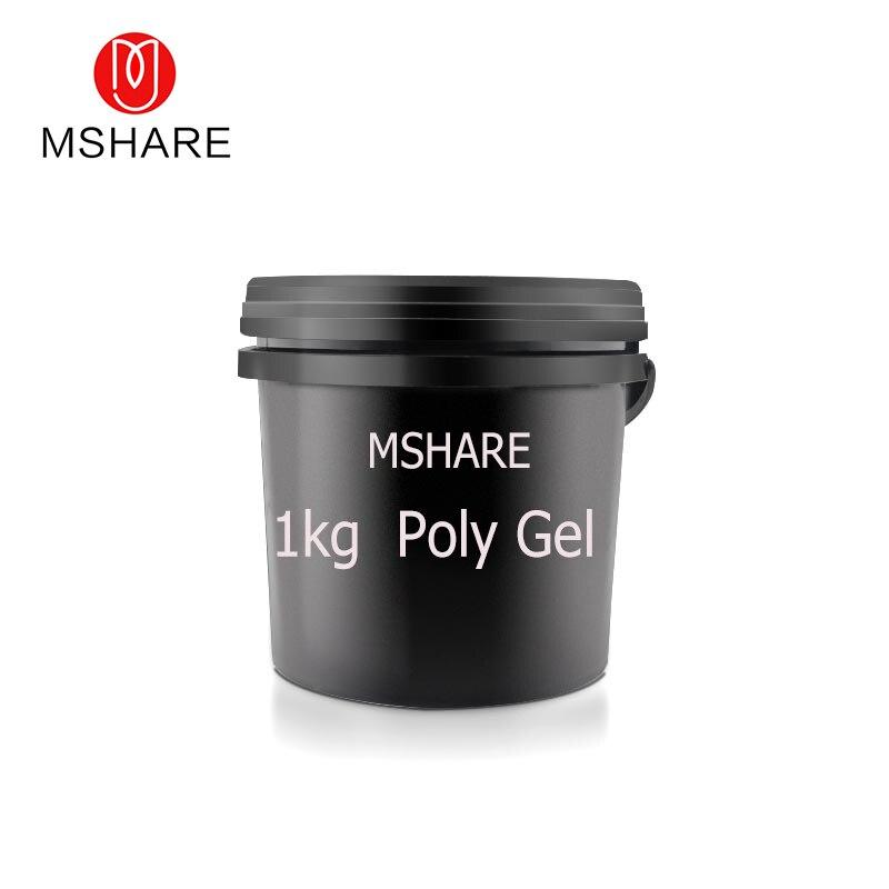 MSHARE 1kg Poly Gel Nails Gel Manufacturer 1kg Pink Clear Transparent UV Hard Jelly Polygel balance basic clear gel