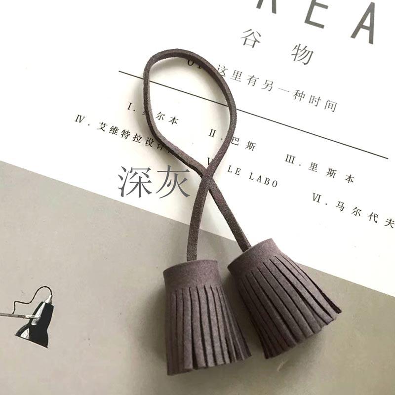12PCS/lot 3cm Pull ring Double head Faux Leather Tassels fringe bang Leather tassel trim key tassel for DIY pendant accessories