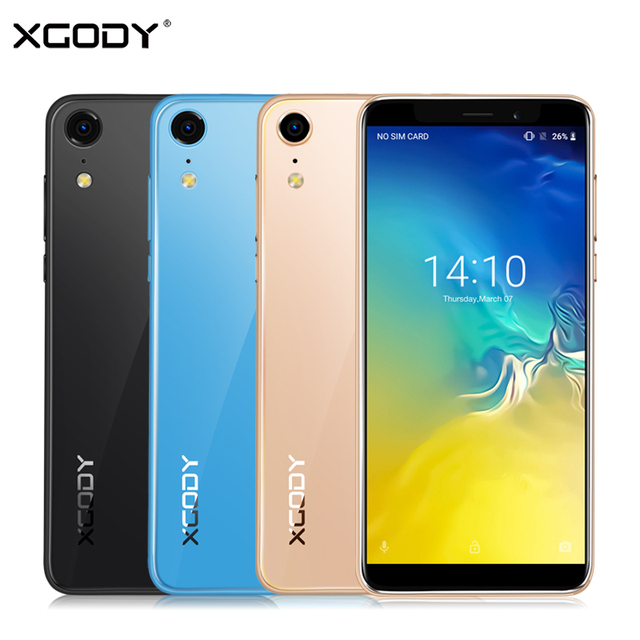 New XGODY XR 3G Smartphone 5.5'' 18:9 Android 8.1 MT6580 Quad Core 2GB RAM 16GB ROM Cell phones GPS 5.0MP 2500mAh Mobile Phone