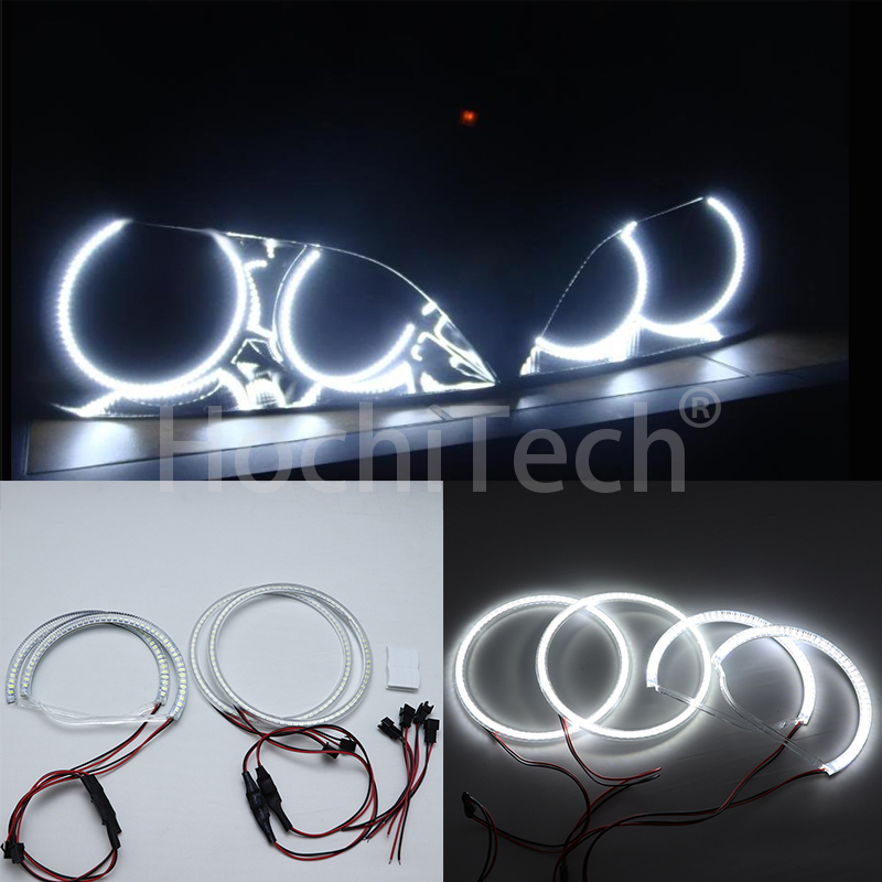 For Lexus IS200 IS300 1998 2005 Ultra bright illumination White Halo Light car smd LED Angel Eyes Halo ring Kit Day Light DRL