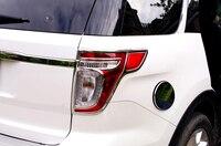 For Ford Explorer 2011 2012 2013 2014 ABS Chrome Car Rear Tail Light Lamp Cover Trim 2pcs/set