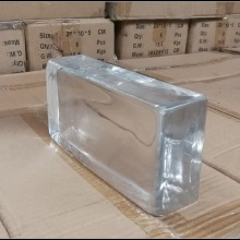 1200x Pack, Transparent Glass Block of 10x20cm, Thickness of 5cm , 2.5kg/pc, 6pcs/carton