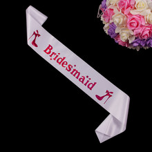 Bridesmaid favors wedding decoration sweet sash with high-heeled shoes fit maid of honor women dress in wedding hen party club(China)