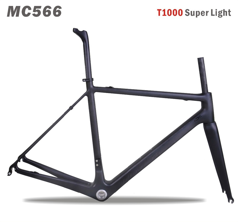Free shipping 2017 Toray t1000 Carbon Road Frame di2 27.2mm seatpost Chinese Carbon Bike Frame 700c carbone route