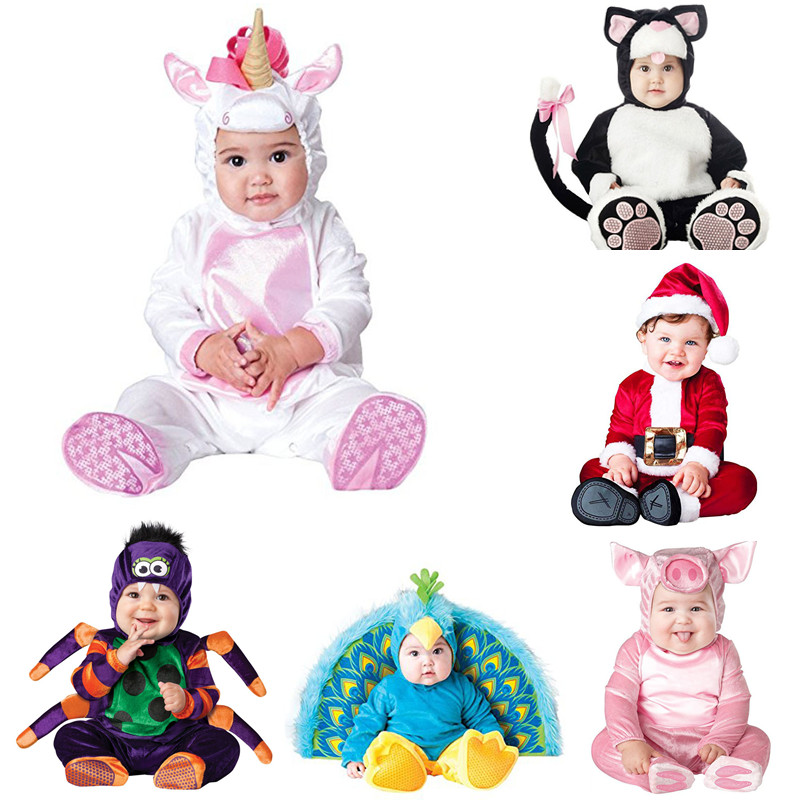New Animal Excessive High quality Child Boys Women Halloween Cat Peacock Costume Romper Children Performing Hats And Sneakers Clothes Set Toddler