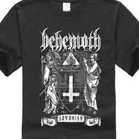 Behemoth The Satanist Shirt S M L Xl Xxl Officl T Shirt Black Death Metal Tshirt Men T-shirt Lowest Price 100 % Cotton