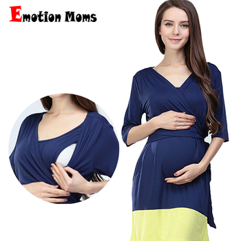 Emotion Moms Fashion Elegant Pregnancy Maternity Clothes Breastfeeding dress for Pregnant Women Sexy Nursing dress Knee-Length hi bloom new fashion summer maternity dress pregnant knee length clothes for pregnancy women elegant evening party vestidos