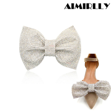 One Pair Crystal Bow Shoe Charms Bowknot For Women High Heel