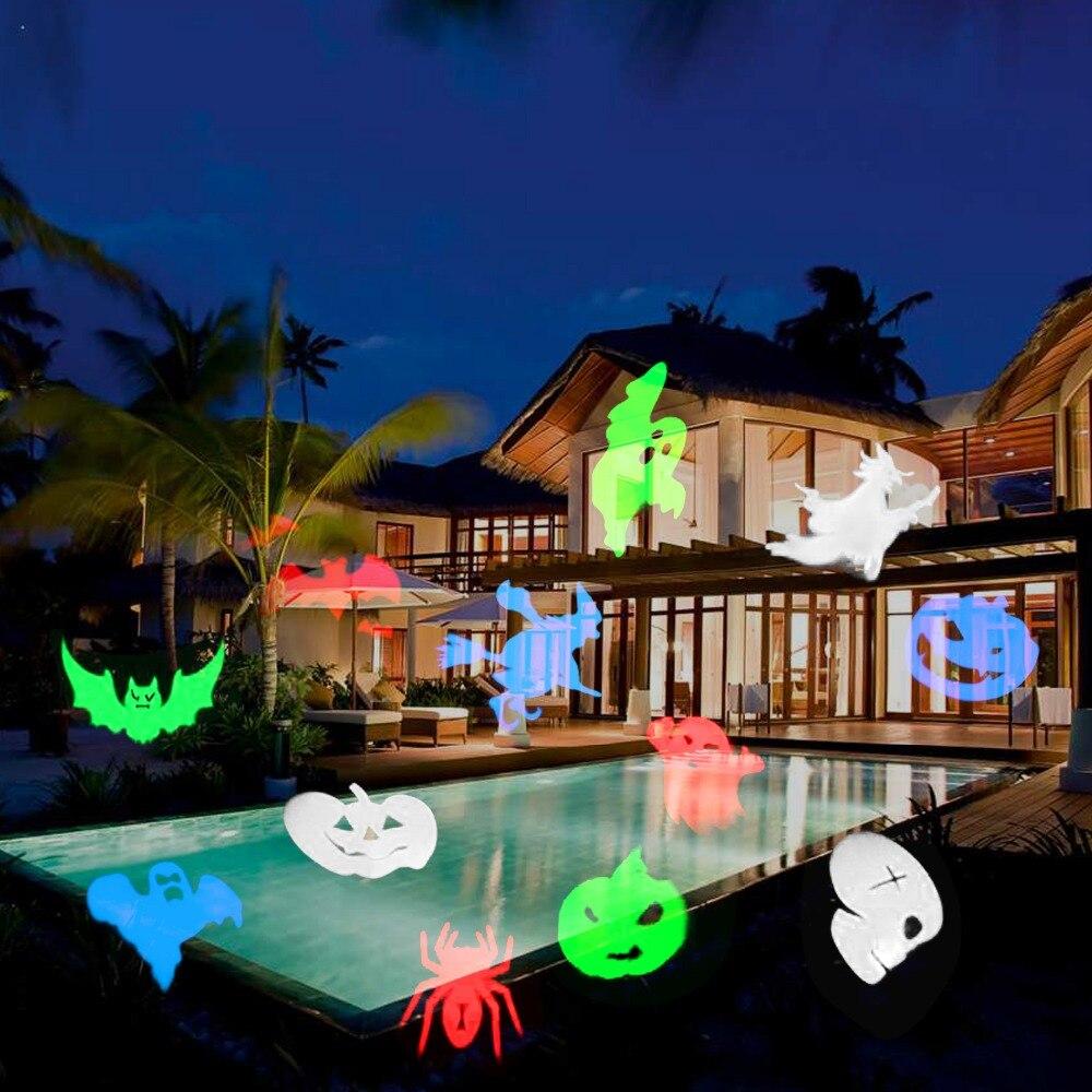 IP65 Outdoor Lighting UK/US/EU Plug New Desigh 12 Halloween Pattern  Projector Lights