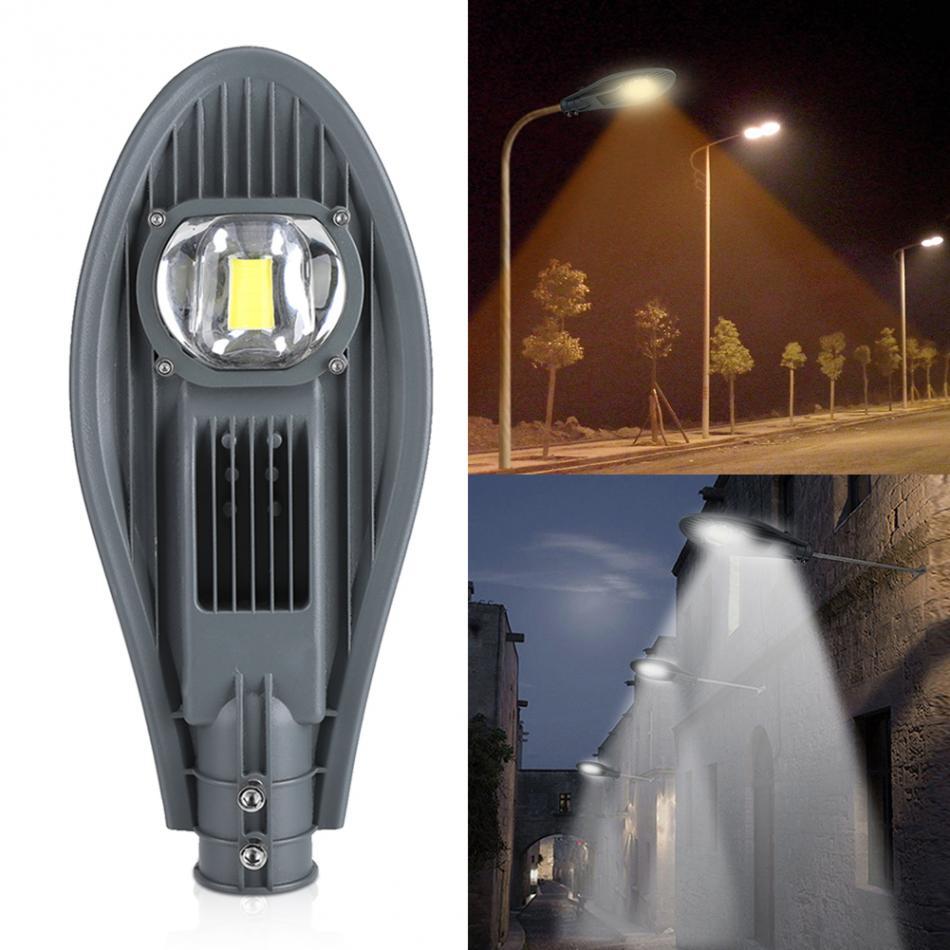 Işıklar ve Aydınlatma'ten Sokak Lambaları'de 30W 50W led sokak lambası su geçirmez IP65 yol sokak projektör lambası açık bahçe Yard duvar lambası kapısı aydınlatma AC85 265V title=