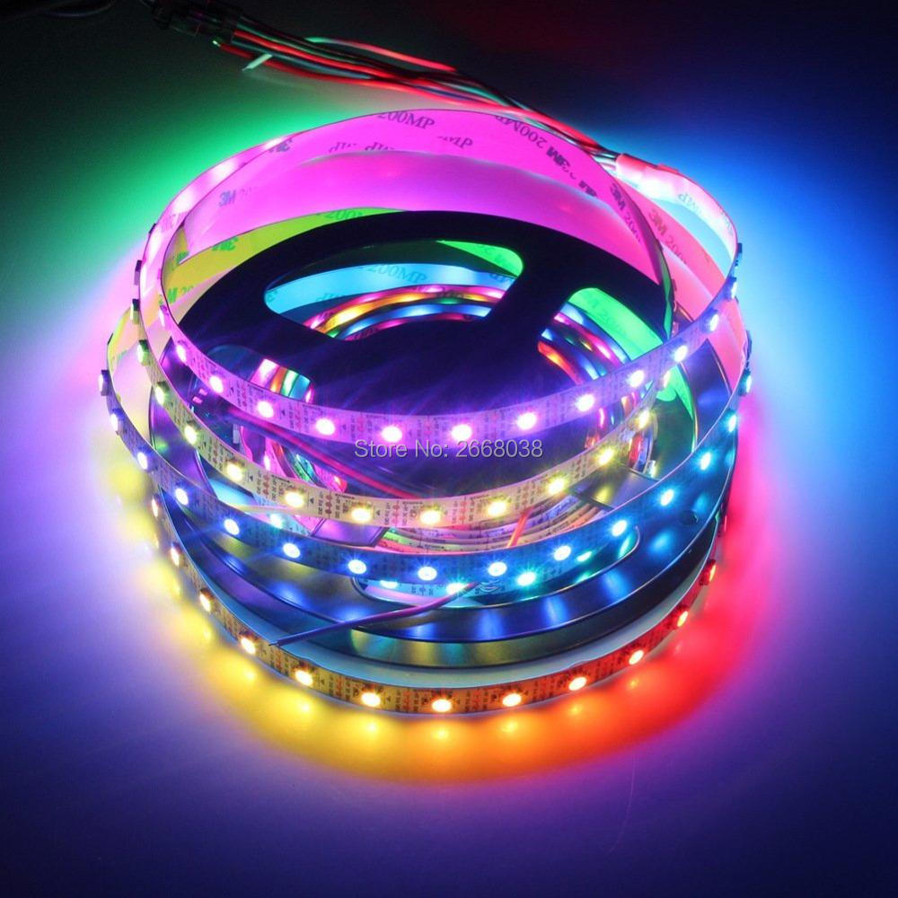 2812b programmable 5050 rgb led strip light with rf pixle controller led colorful light strip 5050 smd change color light strip 30leds m decorative lights 5meterroll ws2812 aloadofball Gallery