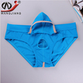 New Men Briefs 2 pcs Waist Pouch Nylon Briefs Penis Hole Calzoncillos Hombre Slips Gay Bulge Mens Sexy  Homme WJ Mesh Underwear
