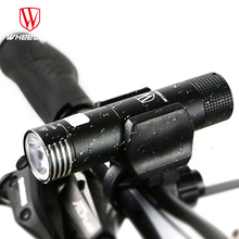 WHEEL UP mini usb rechargeable bike light front handlebar cycling led lights battery 18650 flashlight torch bicycle accessories
