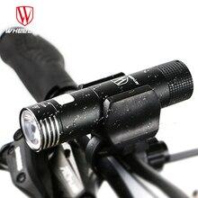 WHEEL UP mini usb аккумуляторная свет велосипеда передний руль велоспорт светодиодные фонари батареи 18650 фонарик факел велосипед аксессуары фонарь для велосипеда