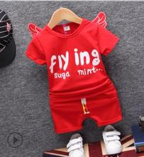hot deal buy toddler baby clothing 2019 summer new arrival kids clothes  for 1-4 y cotton cartoon infant baby set angel baby clothes to-052