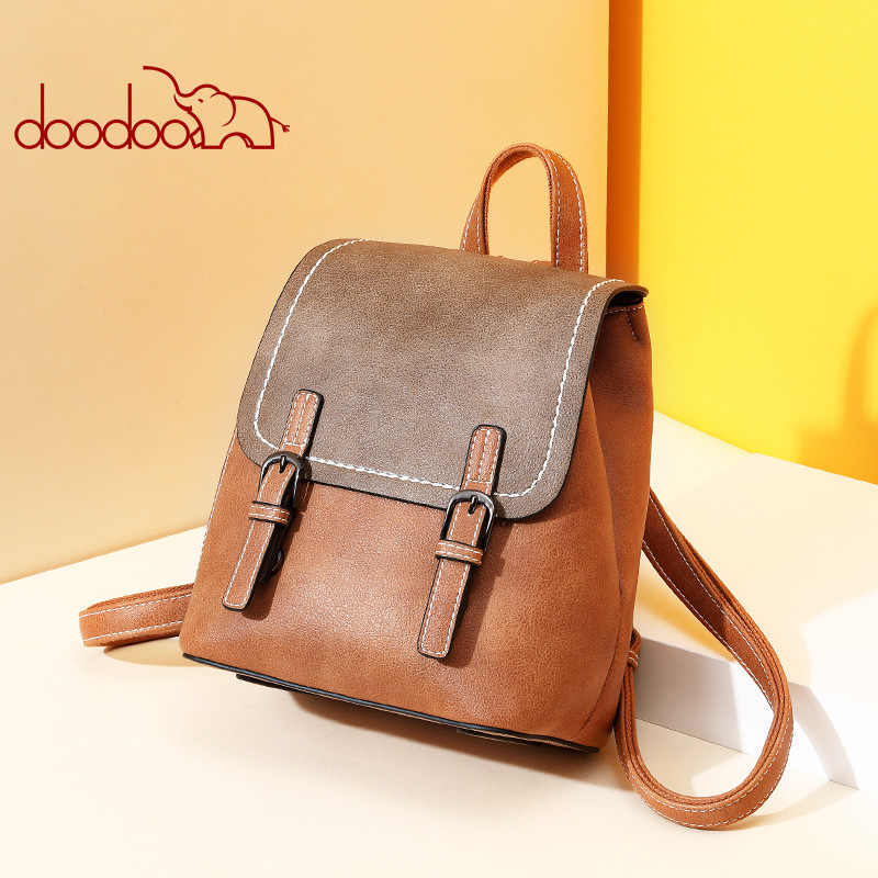 Korean Both Shoulders Package 2019 New Pattern Student genuine leather Backpack doughnut female Travelling Bag girl bagpack sale