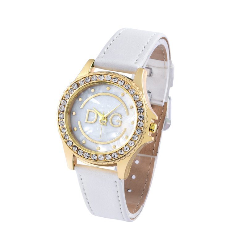 Relojes Mujer 2019 Luxury Brand DqG Women Watches Personality Romantic Starry Smiley Face Wrist Watch Rhinestone Ladies Watch