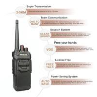 """מכשיר הקשר RETEVIS RT48 / RT648 מכשיר הקשר IP67 Waterproof PMR רדיו המירוץ PMR446 / FRS VOX שני הדרך רדיו תחנת Comunicador מקמ""""ש (3)"""