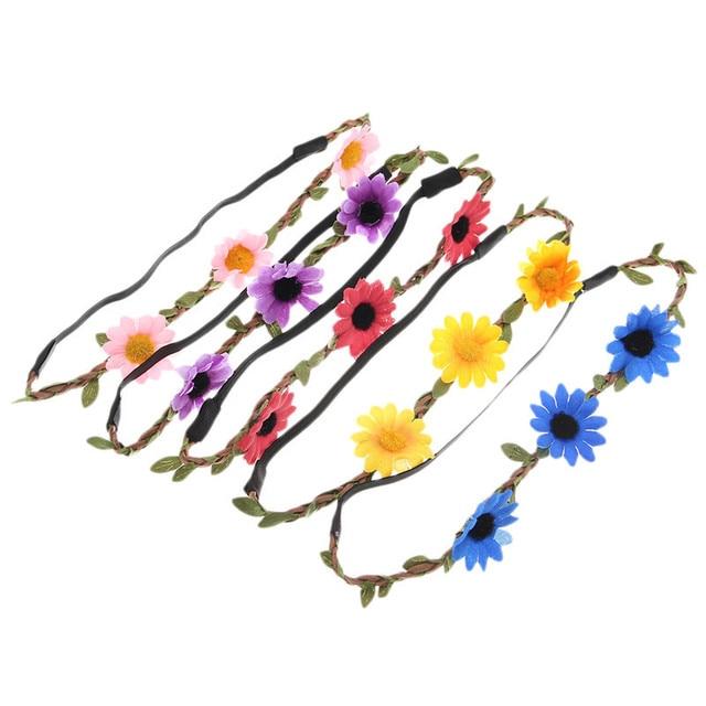 2015 del verano del estilo Multicolor venda de la flor accesorios ...
