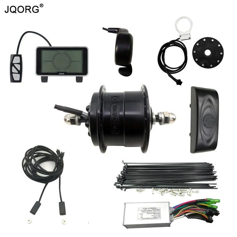 JQORG Electric Bicycle Kits 36V 250W Ultra Light Hub Motor With Sensorless Motor Controller / LCD display/Throttle/Brake/PAS/Box