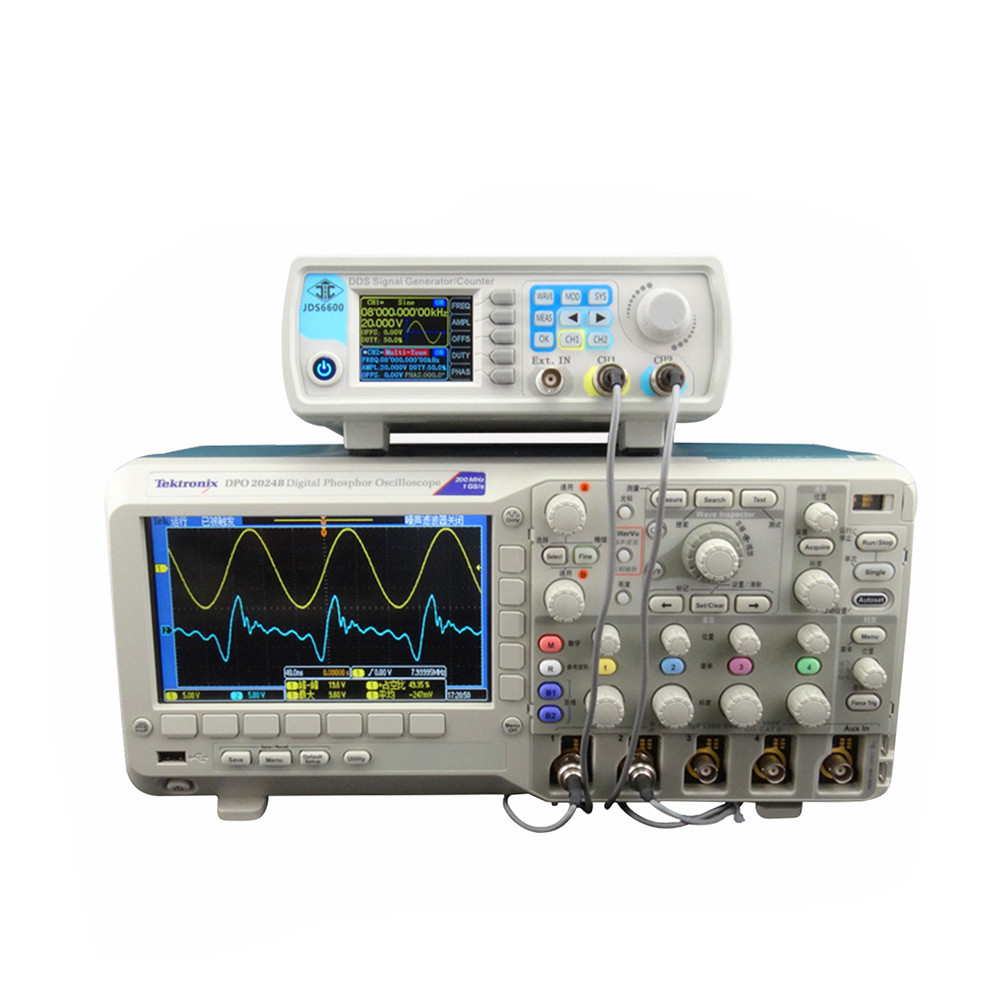 5pcs/lot by dhl or fedex JDS6600 15MHZ Dual Channel Function Arbitrary Waveform Signal Generator Frequency Meter  45%off hantek6254bd oscilloscope 4 channels 6254bd arbitrary waveform generator 250mhz bandwidth powered by usb2 0 interface
