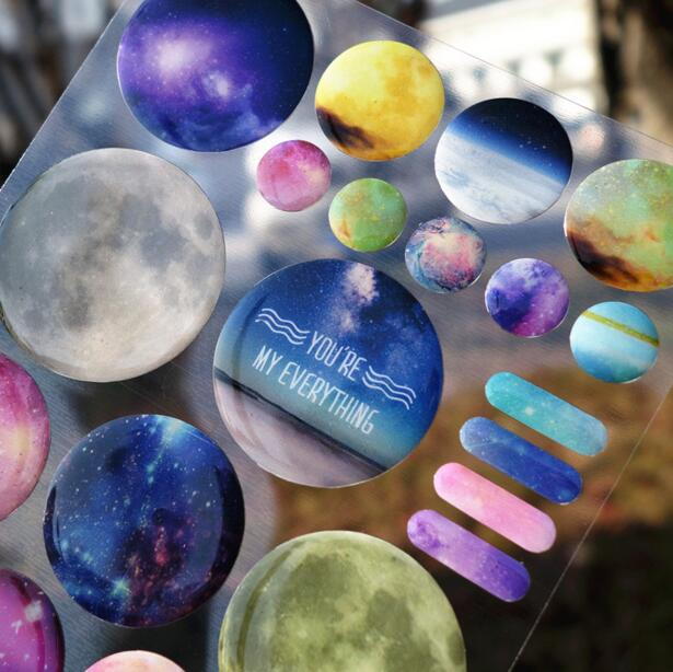 3D You are My Space Decorative Stickers Diary Sticker Scrapbook Decoration PVC Stationery DIY Stickers School Office Supply auto accessories chameleon sticker 30m 1 52m functional car pvc red copper color stickers home decorative films stickers