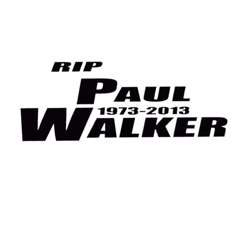 HERCHR Car Sticker black Black and White Speed and Passion Paul Walker Rip Paul Walker Car Decal
