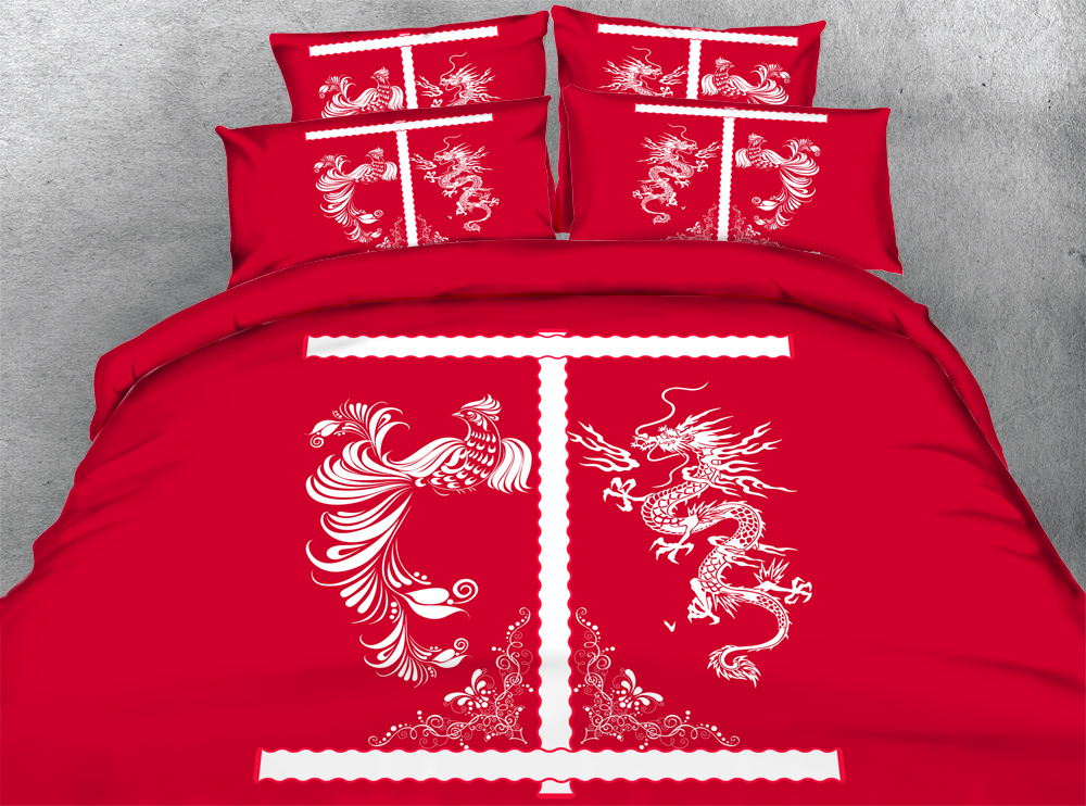 Oriental Elements 3 Pieces Chinese Wedding Dragon And