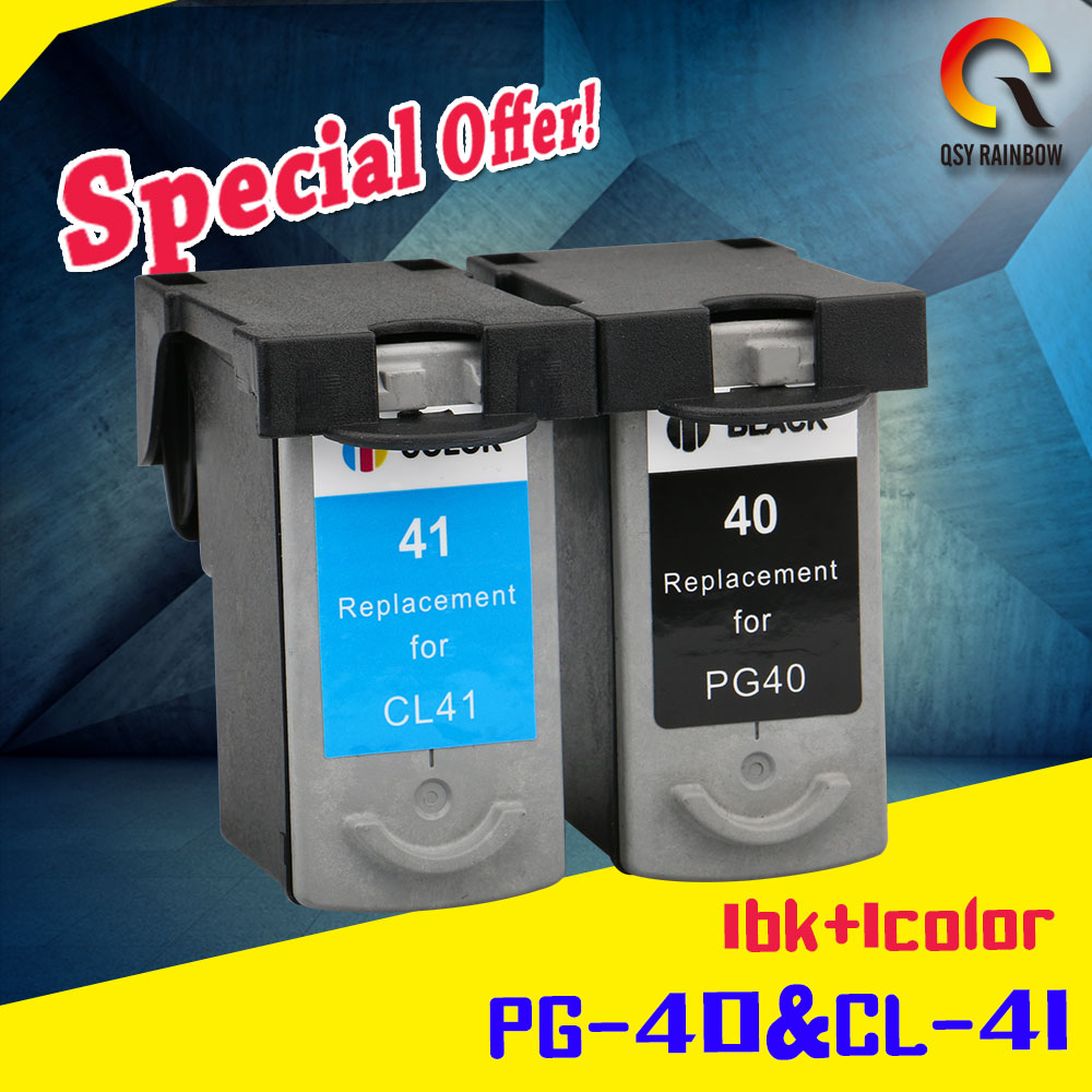 2x PG-40 CL-41 Compatible Ink Cartridge PG40 For Canon Pixma MP140 MP150 MP160 MP180 MP190 MP210 MP220 MP450 MP470 printer pg37 ink cartridge for canon pg 37 mp210 mp220 mx300 mx310 ip1800 ip1900 priner cartridge freeshipping