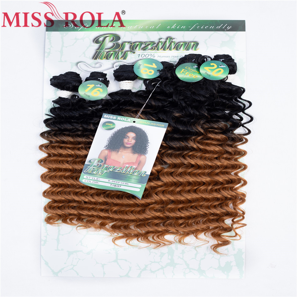 Hot Sale Miss Rola Ombre Synthetic Hair Extensions Deep Wave Hair