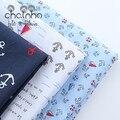 3 pcs de Algodão Tecidos Para Costura DIY Handmade Hometextile Pano Para O Vestido Cortina Série Âncora Grande Patchwork Estilo Oceano 40*50 cm