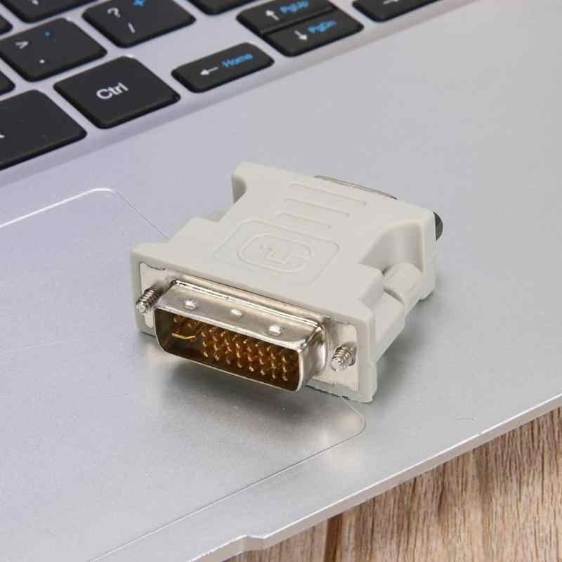 DVI 24 + 5 Male TO VGA Female Converter DVI TO VGA Adaptor Monitor VGA