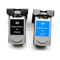 YOTAT Remanufactured PG 40 CL 41 Ink Cartridge PG40 CL41 for Canon PIXMA IP2500 IP2600 iP1200 MX300 MX310 MP160 MP140 MP150