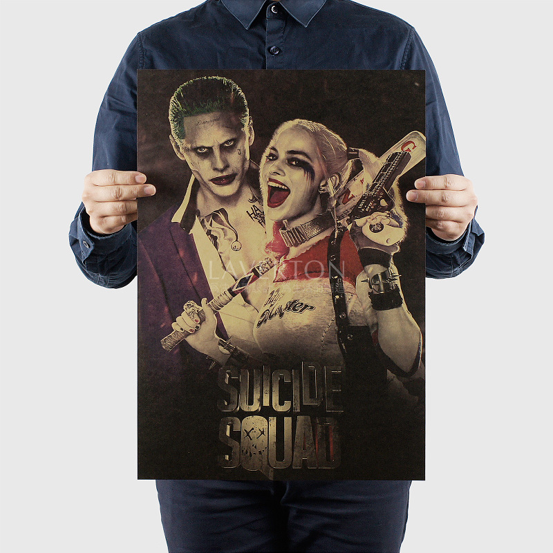 New arrival Suicide Squad X contingent DC Batman Poster kraft paper decorative painting <font><b>wall</b></font> <font><b>sticker</b></font> <font><b>retro</b></font> poster decorations image