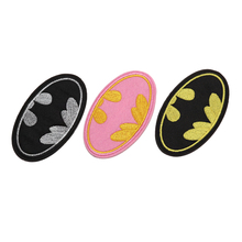 1PC Cartoon Kids Batwoman Batman Iron On Patches Clothes Patches For Clothing Girls Boys Embroidered 9