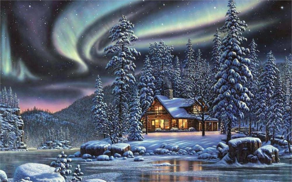 меха открытки зимняя природа концерты проходят