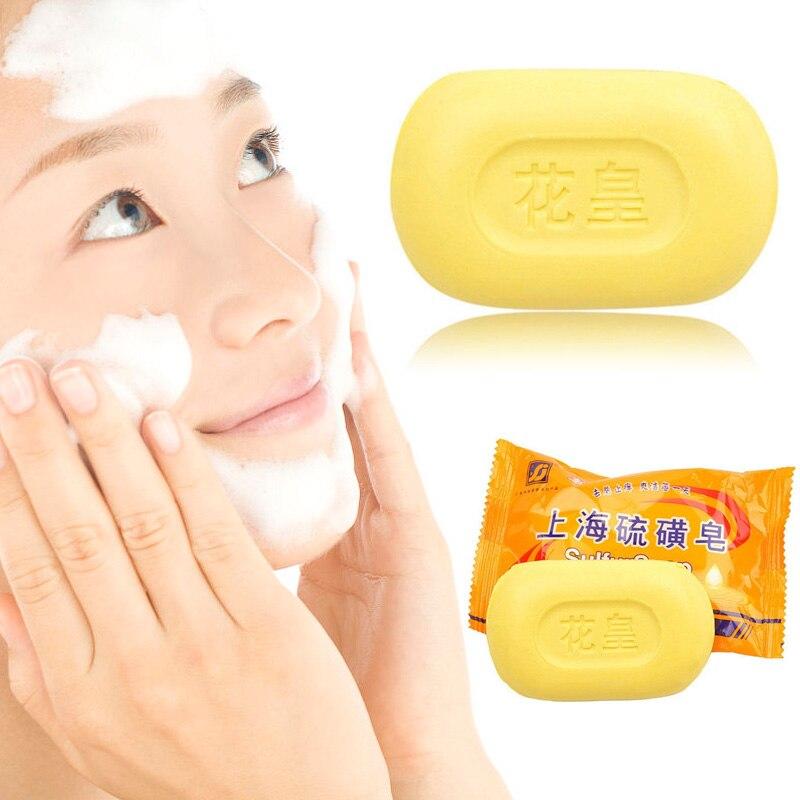 85g Sulphur Soap Skin Care Dermatitis Fungus Eczema Anti Bacteria Fungus Shower Bath Whitening Soaps Hot Mdf