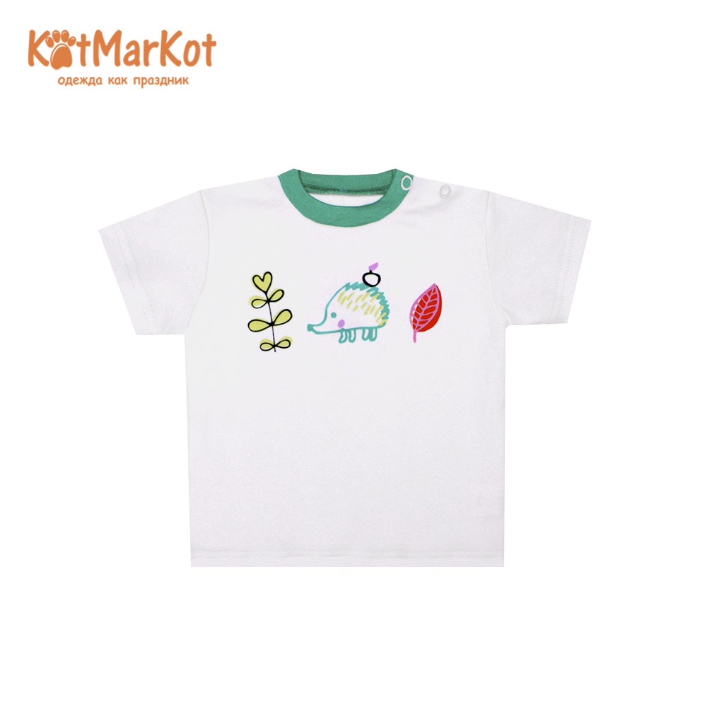 T-Shirts Kotmarkot 7739  for children t-short Jersey tee shirt baby clothes Cotton Baby Boys Casual Print leaf print longline tee