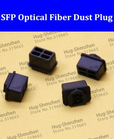 600PCS Free Shipping SFP optical fiber black silicon dust plug /dust cover for SFP optical transceiver with free shipping