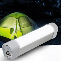 18650 Battery Powered Lantern Tent Lamp Portable USB Charging LED Night Lights With Magnet Outdoor Camping Light Flashlight Bulb