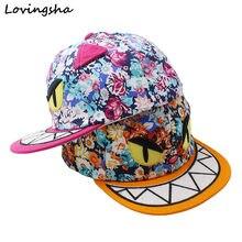 LOVINGSHA Boy Gorras de Béisbol 3-8 Años de Edad Chico Monstruo Lindo Diseño  Snapback Caps de Alta Qaulity Tapa Ajustable Para c. a8702a02f62