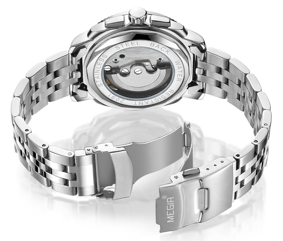HTB1tE3NX.rrK1RkSne1q6ArVVXa5 MEGIR Luxury Quartz Watches Stainless Steel Military Wrist Watch