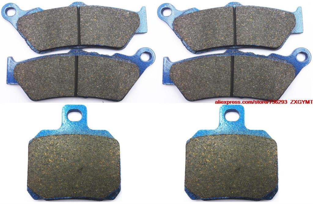 цена на Motorcycle Semi Metallic Disc Brake Pads Set fit for APRILIA ETV1000 ETV 1000 Caponord Rally Raid 2004 & up
