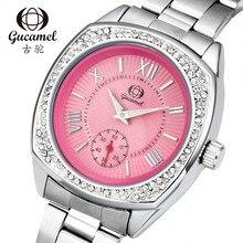 Señoras de La Manera Mujeres Del Reloj de Cuarzo Rhinestone de Cuero Casual Vestido Reloj de Cristal de Las Mujeres reloje mujer 2016 montre femme
