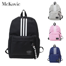 McKovie 2019 Fashion Backpack for Women Men Female Male Canvas School Bag for Teens Teenage Girl Boy Back Pack Travel