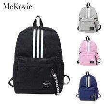Mckovie 2019 moda mochila para os homens do sexo feminino masculino lona saco de escola para adolescentes adolescente menino volta pacote viagem